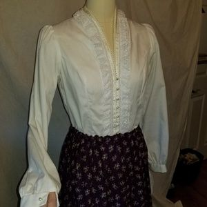 Cotton, lace,  and pearly prairie blouse Jessica's